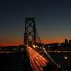 Bay Bridge at night San Francisco